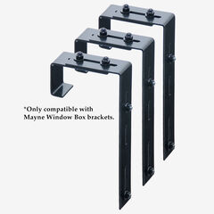 Mayne Adjustable Deck Rail Bracket 3-Pack,