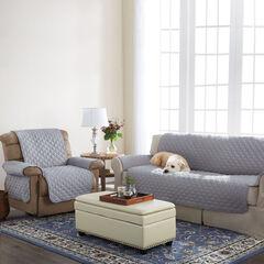 BH Studio Water-Repellent Microfiber Sofa Protector, GRAY