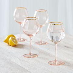 Gracie Gold Rim Wine Glasses, Set of 4,