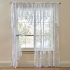 Ella Floral Lace Panel with Attached Valance,