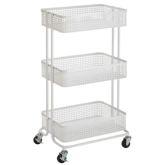 Aristo 3 Tier Rolling Storage Cart Storage Brylane Home