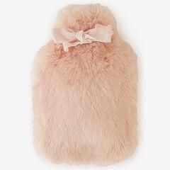 Faux Fur Plush Hot Water Bottle & Holder,