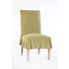 Roman Key Cotton Dining Chair Slipcover by Classic Slip Covers, Inc.,