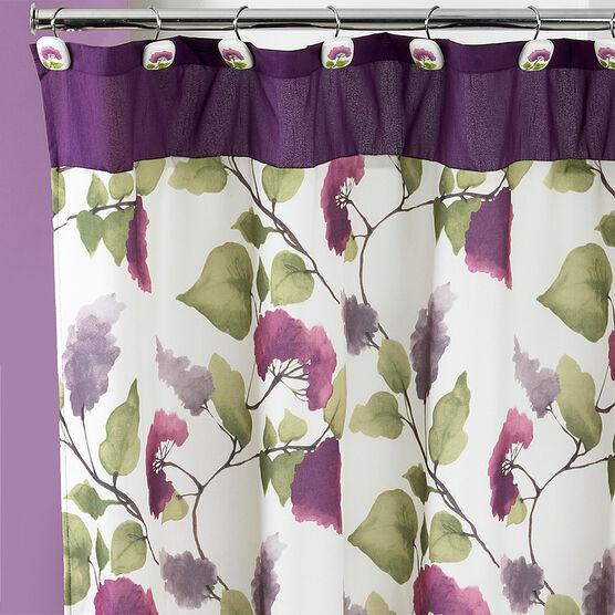 Jasmin Shower Curtain, PLUM