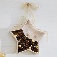 Pine Cone Star Wall Art,