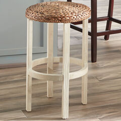"24""H Bari Weave Counter Stool, NATURAL WHITE WASH"