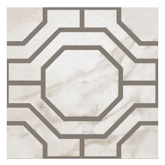 Retro 12x12 Self Adhesive Vinyl Floor Tile - Octagon - 20 Tiles/20 sq. ft.,