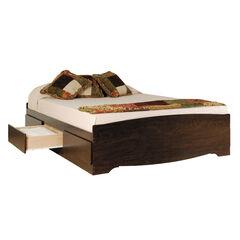Prepac Espresso Queen Platform Storage Bed (6-drawers),