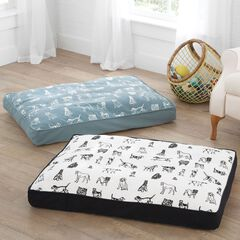 Dog Repeat Cotton Printed Pet Bed,