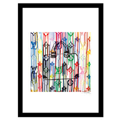 Louis Vuitton Bag Color Drip - Multi - 14x18 Framed Print,