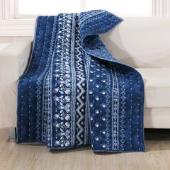 Barefoot Bungalow Embry Quilted Throw Blanket,