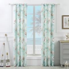 Ocean Turquoise Curtain Panel Pair,