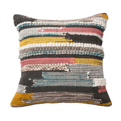 Bohemian Broken Stripe Chunky Woven Pillow,