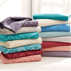 500 Thread Count Damask Print Sheet Set,