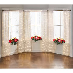 "84"" Pre-Lit Rod-Pocket Curtain Panel,"