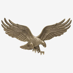 """29"""" Wall Eagle, ANTIQUE BRASS"""
