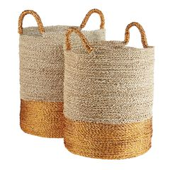 Ardelia Two-Tone Baskets, Set of Two ,