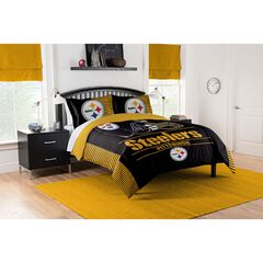 COMFORTER SET DRAFT-STEELERS,