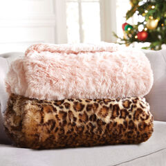 Plush Faux Fur Throw,