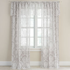 Damask Lace Rod-Pocket Valance,