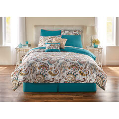 8 PC Paisley Printed Comforter Set,