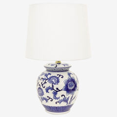 Blue Flower Table Lamp, BLUE WHITE