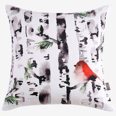 Bird In Birch Decorative Pillow,