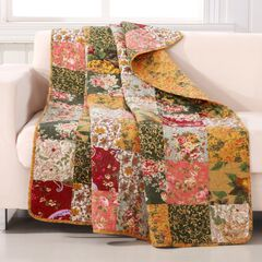 Greenland Home Fashions Antique Chic Quilted Patchwork Throw Blanket,