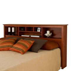 Monterey Cherry King Bookcase Headboard,