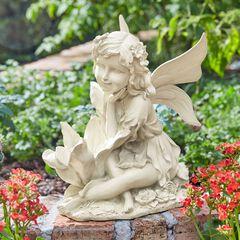 Sitting Fairy Statue,
