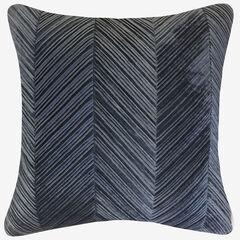 Chevron Velvet Decorative Pillow,