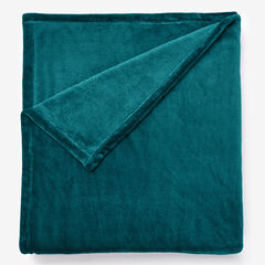 BH Studio Microfleece Blanket, PEACOCK