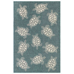 Liora Manne Carmel Seaturtles Indoor/Outdoor Rug,