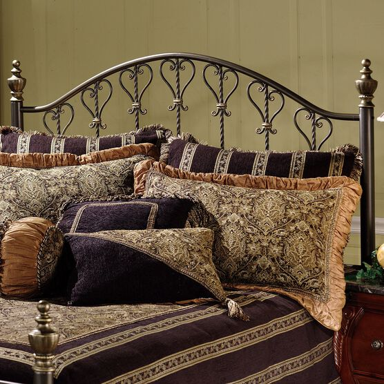 Full/Queen Headboard with Headboard Frame, 71½'Lx62½'Wx57'H, BRONZE