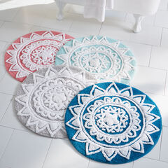 Pandora Round Cotton Bath Rug,