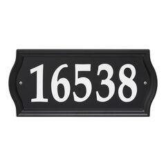 Nite Bright Ashland Reflective Address Numbers Sign,