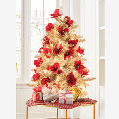 4' Champagne Tinsel Tree,
