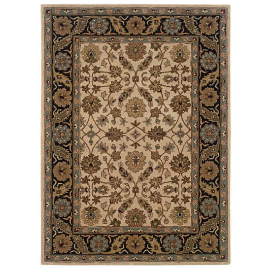 Trio Traditional Floral 8'X10' Area Rug, FLORAL