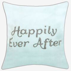 "Beaded ""Happily Ever After"" Decorative Pillow,"