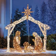 Crystal Splendor Outdoor Scenes, NATIVITY SCENE