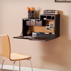 Wall-Mounted Desk with Foldaway Desktop,