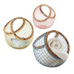 Leo Open-Weave Basket,