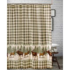 Moose Creek Shower Curtain by Greenland Home Fashions,