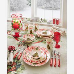 16-Pc. Christmas Tree Dinnerware Set, MULTI