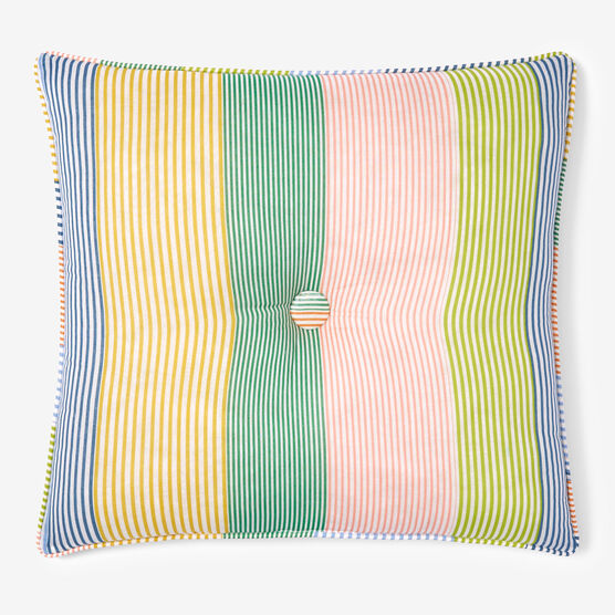 "Coastal Stripe 16"" Sq. Pillow, STRIPE MULTI"