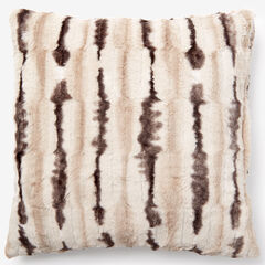 Animal Print Faux Fur Pillow Covers, CHINCHILLA PRINT
