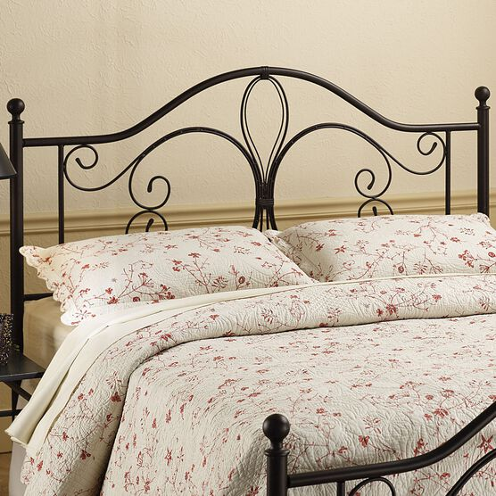 "King Headboard with Headboard Frame, 71½""Lx79½""Wx49½""H, ANTIQUE BROWN"