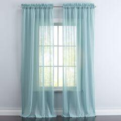 BrylaneHome® Studio Wavy Sheer Rod-Pocket Curtain,