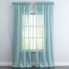 BrylaneHome® Studio Wavy Sheer Rod-Pocket Curtain,