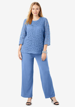 Lace Popover Jumpsuit, FRENCH BLUE